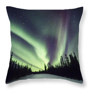 Northern Lights II Throw Pillow