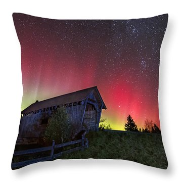 Northern Lights - Painted Sky Throw Pillow