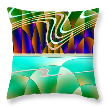 Northern Lights Throw Pillow by Raul Ugarte