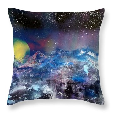 Northern Lights Relection Throw Pillow