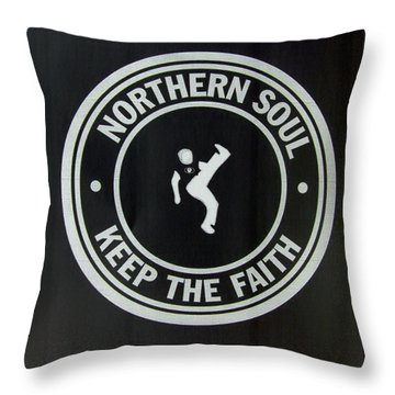 Northern Soul Dancer Inverted Throw Pillow