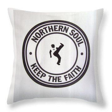 Northern Soul Dancer Throw Pillow