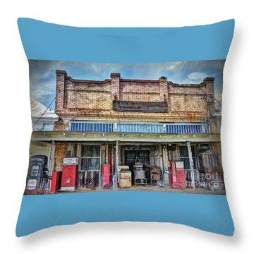 Northington Land And Cattle Throw Pillow by Savannah Gibbs