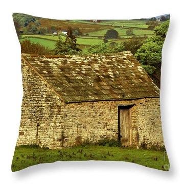Northumberland Stone Barn Throw Pillow