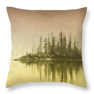 Northwest Islet Throw Pillow