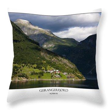 Norway Geiranger Geirangerfjord Fjord Throw Pillow