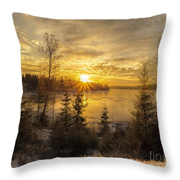 Norway Hedmark Throw Pillow by Rose-Maries Pictures