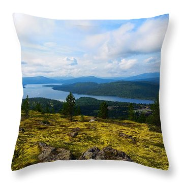 Norwegian Landscape 3 Throw Pillow