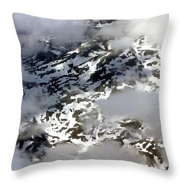 Norwegian Mountains From On High Throw Pillow by Laurel Talabere