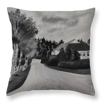 Norwegian Street Throw Pillow