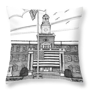 Norwich University Jackman Hall Throw Pillow