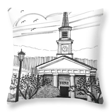 Norwich University White Chapel Throw Pillow