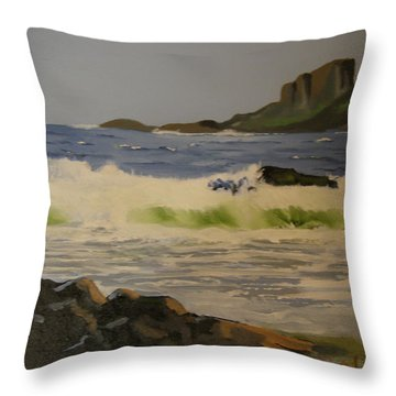 Norwick Beach Shetland Isles Throw Pillow