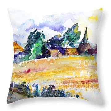 Nossentin From The West Throw Pillow by Barbara Pommerenke