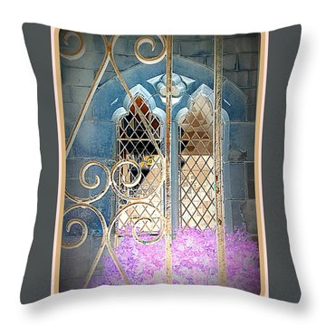 Nostalgic Church Window Throw Pillow by The Creative Minds Art and Photography
