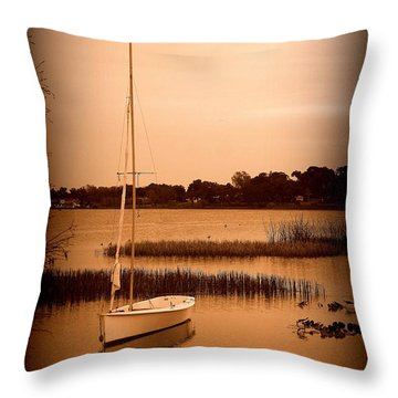 Throw Pillow featuring the photograph Nostalgic Summer by Laurie Perry
