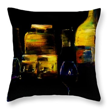 Throw Pillow featuring the painting Nostalgic For Two by Lisa Kaiser