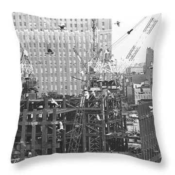 Nosy Pigeons  Throw Pillow