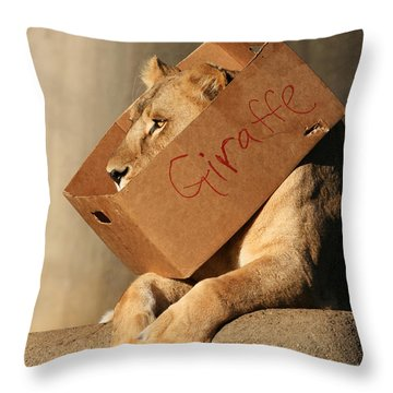 Not A Giraffe Throw Pillow