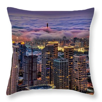 Throw Pillow featuring the photograph Not Hong Kong by Ron Shoshani