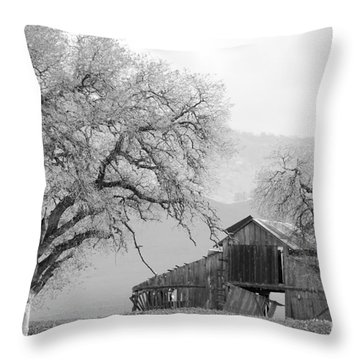 Not Much Time Left Bw Throw Pillow by Debby Pueschel