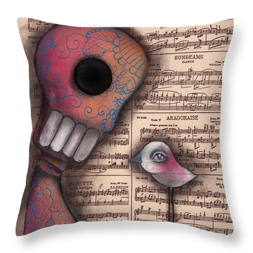 Not Really Alone Throw Pillow