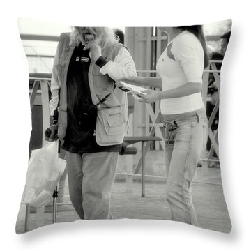 Not Right Now Throw Pillow by Caroline Stella