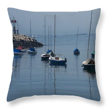 Throw Pillow featuring the photograph Sail Boats  by Eunice Miller