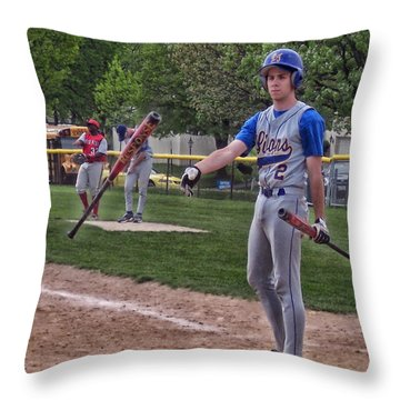 Not This Bat Throw Pillow by Thomas Woolworth