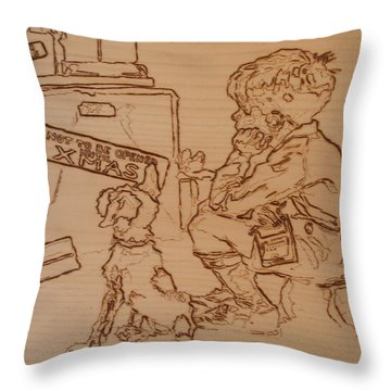 Not To Be Opened Until Christmas Throw Pillow by Sean Connolly