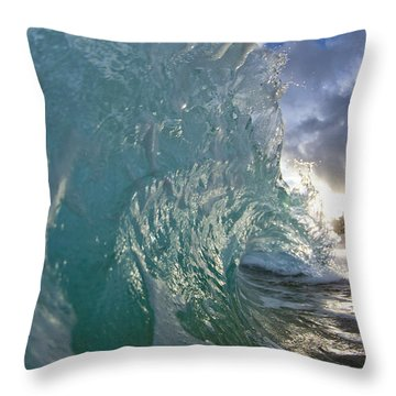 Coconut Curl Throw Pillow