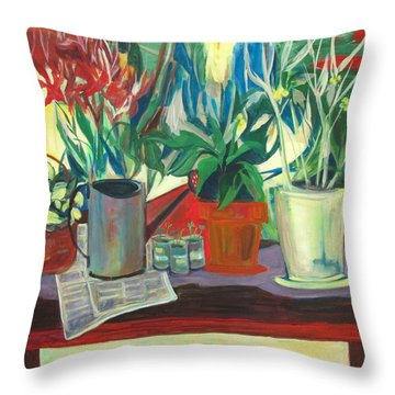 Not Your Grandpa's Potting Stand Throw Pillow