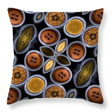 Not Your Mothers Button Box Throw Pillow by Jean Noren