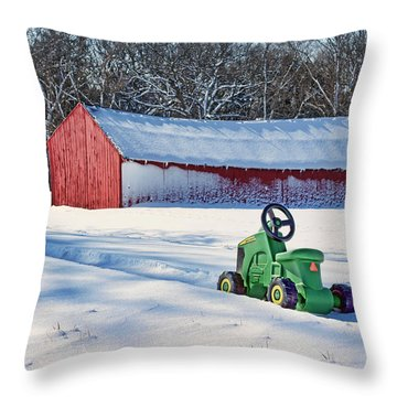 Nothing Runs Like A Deere #1 Throw Pillow
