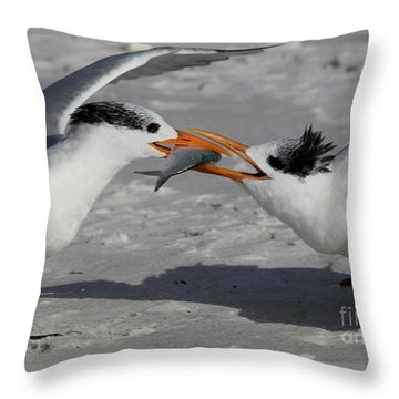 Nothing Says I Love You Like A Fish Throw Pillow by Meg Rousher