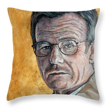 Throw Pillow featuring the painting Nothing To Lose by Tom Roderick