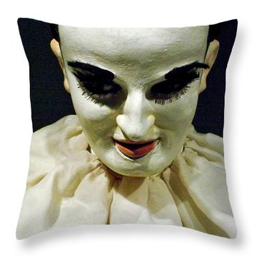 Throw Pillow featuring the photograph Nothing To Say - Limited Edition by Newel Hunter