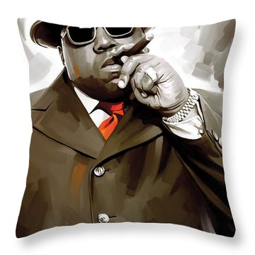 Notorious Big - Biggie Smalls Artwork 3 Throw Pillow