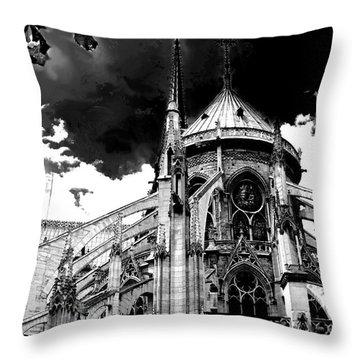 Notre Dam Revealed By Denise Dube Throw Pillow