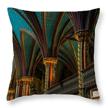 Notre Dame Basilica 2 Throw Pillow