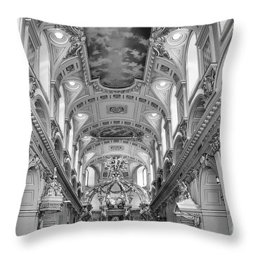 Notre-dame Basilica Throw Pillow by Bianca Nadeau