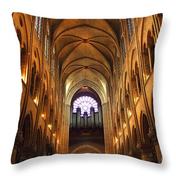 Notre Dame Ceiling Throw Pillow