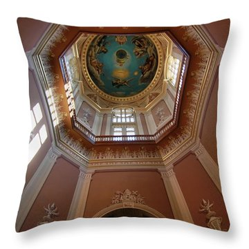 Notre Dame Ceiling Throw Pillow by Dan Sproul
