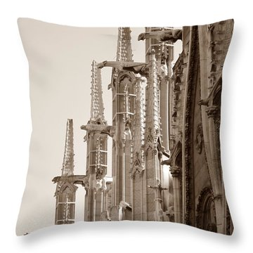 Notre Dame Sentries Sepia Throw Pillow