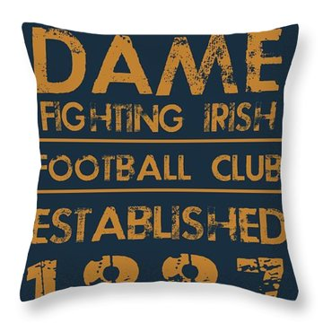 Notre Dame Throw Pillows
