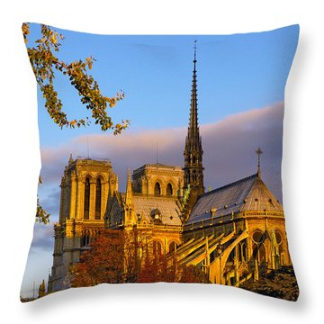 Notre Dame Sunrise Throw Pillow