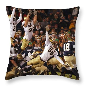Notre Dame Versus Navy Throw Pillow
