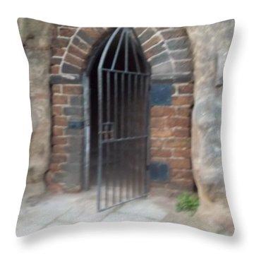 Nottingham Castle Gateway Throw Pillow