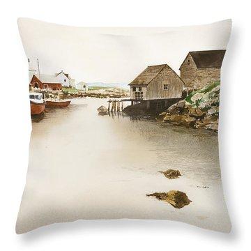Nova Scotia Throw Pillow by Monte Toon