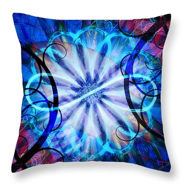 Throw Pillow featuring the digital art Novem by Kenneth Armand Johnson